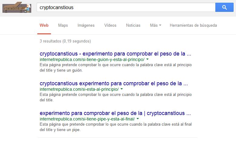 Resultado experimento titles búsqueda normal