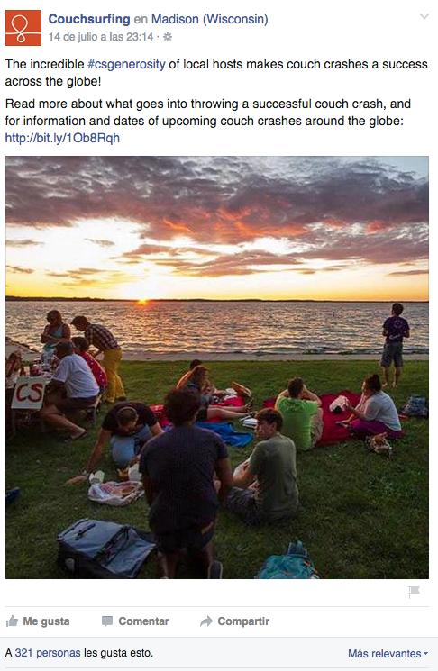 couchsurfing facebook