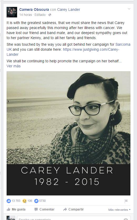 facebook reacciones tristeza