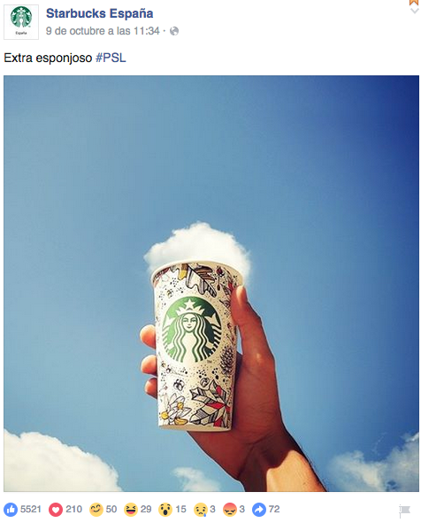 reacciones facebook starbucks