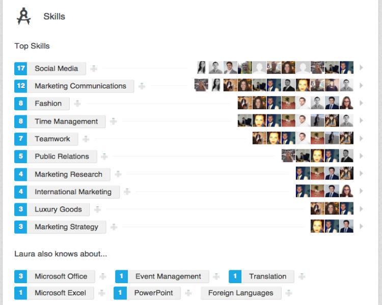 Habilidades y cualidades perfil de LinkedIn