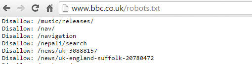 Robots.txt BBC