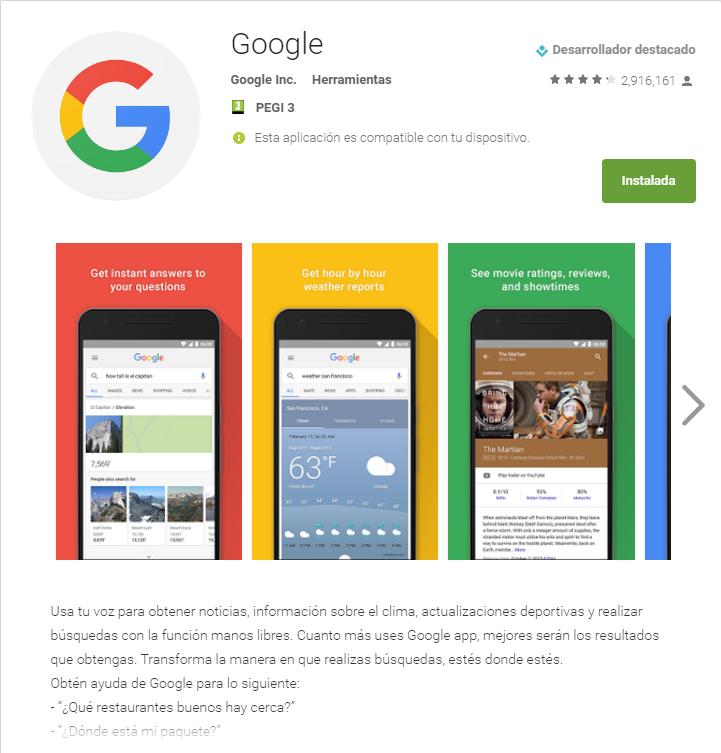 Google quick searchbox