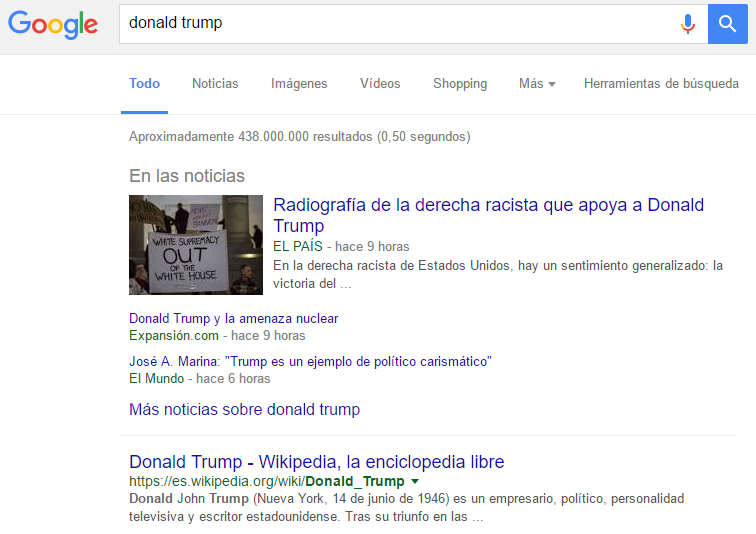 Captura de noticias en Google