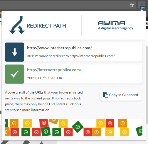 extension redirect path