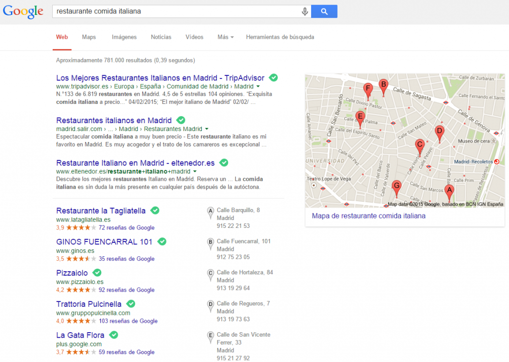 resultado seo local
