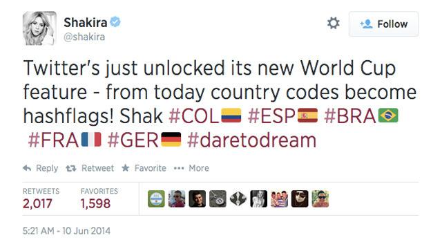 Shakira Hashflags