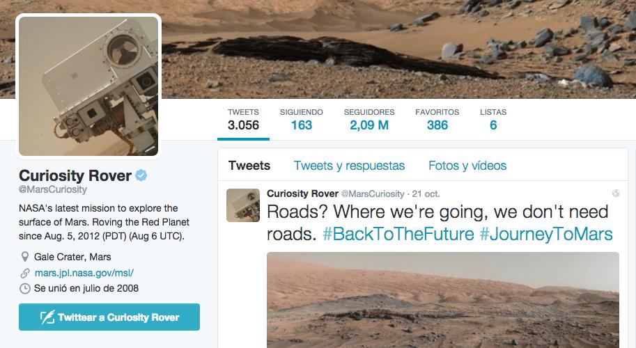 twitter curiosity rover