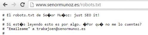 Robots.txt SeñorMuñoz