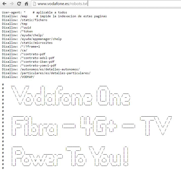 Robots.txt Vodafone