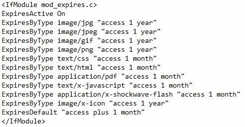 especificar caché del navegador