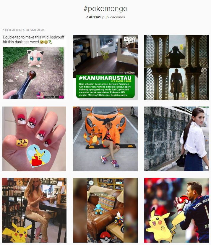 pokemon go en instagram