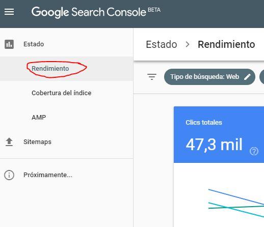 Con Google Search Console puedes conocer con qué términos posiciona tu web en Google.