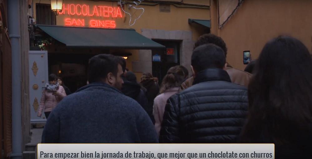 Chocolatería San Gines Lopez de Hoyos en Madrid