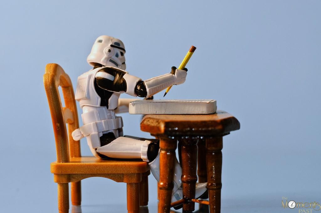 Stormtrooper escribiendo